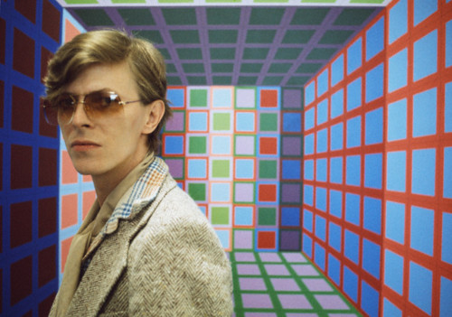 David Bowie in Vasarely's workshop